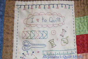 I love to quilt tote bag