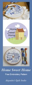 Home Sweet Home free embroidery pattern