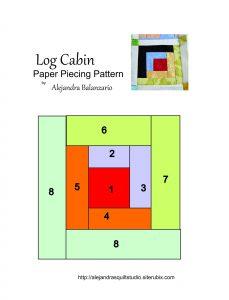 Log cabin PP free pattern