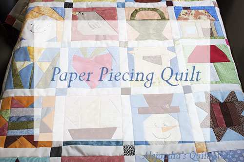 Paper piecing quilt free patten