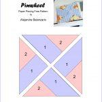 Pinwheel Paper piecing pattern