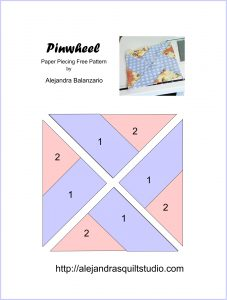 Pinwheel Paper piecing pattern