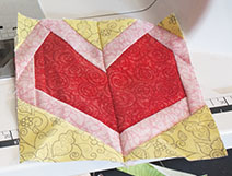 Heart Paper Piecing Free Pattern