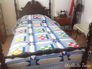 Nine patch quilt with stars