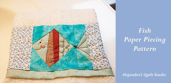 Paper Piecing Pattern Fish