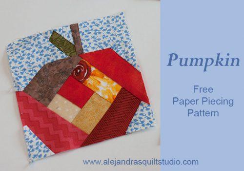 Pumpkin paper piecing free pattern