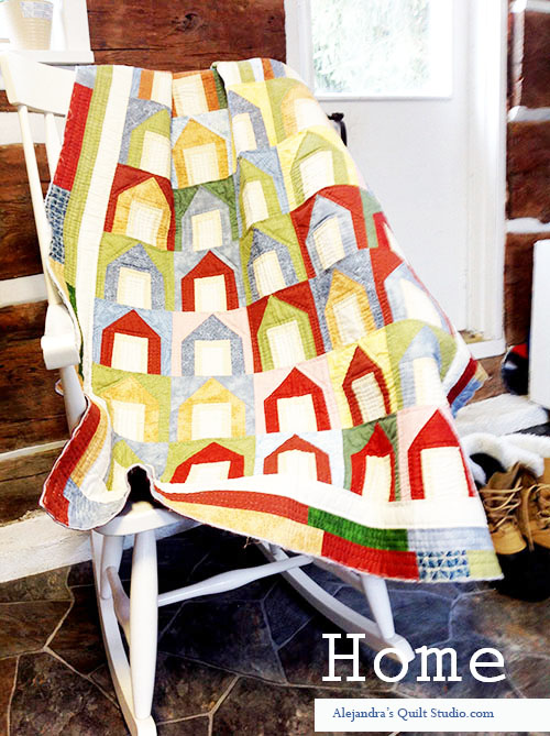 Quilt patchwork houses