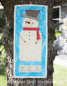 Snowman mini quilt