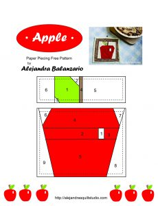 apple paper piecing pattern