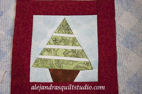 Christmas tree paper piecing free pattern