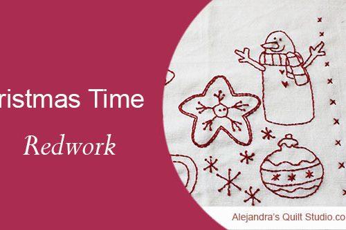 Christmas time redwork