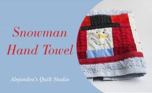 Snowman Patchwork hand towel