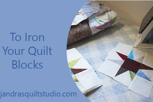 How to iron your quilt blocks