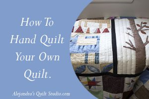 how to hand quilting