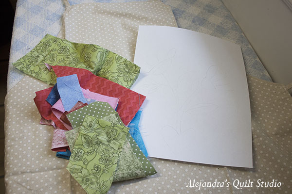 how to applique patchwork