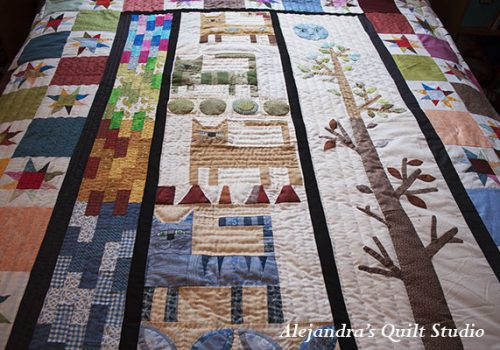 hand quilting patchwork