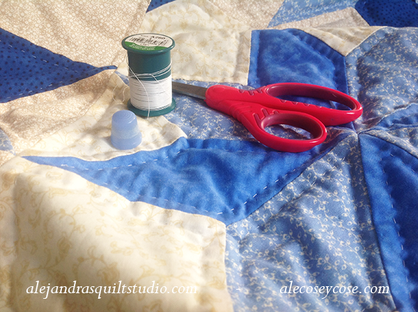 how to work hand quilting