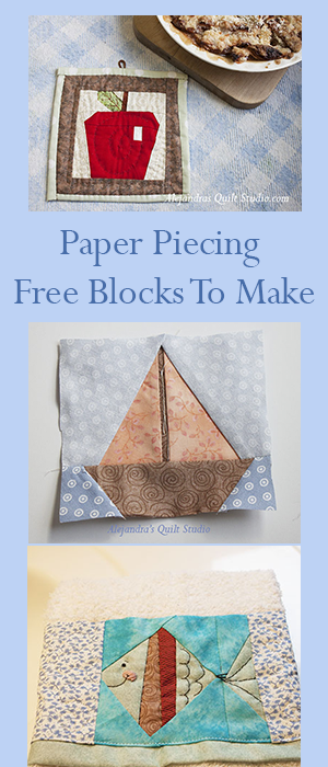 Patchwork Quilt With Paper Piecing Blocks