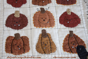 Pumpkin mini quilt