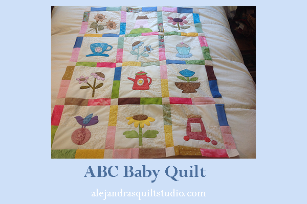 ABC baby quilt free patterns