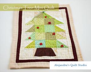 Christmas tree mini quilt
