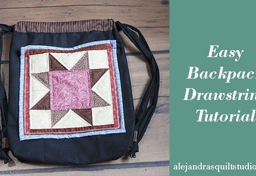 backpack drawstring tutorial