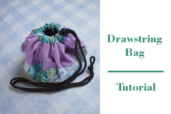 how to make a drawstring patchwork bag