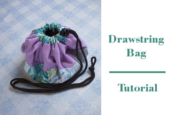 how to make a drawstring patchwork bag