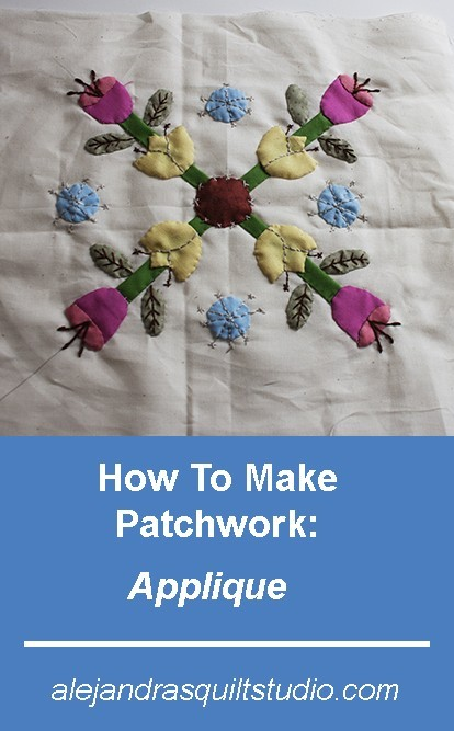 To make a quilt you can use different techniques, today I will show you how to make patchwork - applique block #1