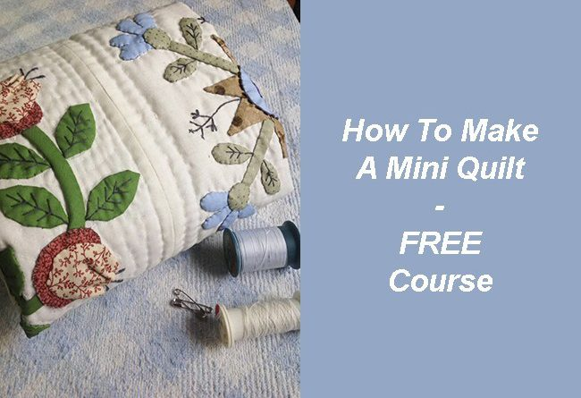 Today I will share with you how to make a mini quilt Baltimore, and how to do the hand quilting, easy and fun to do!
