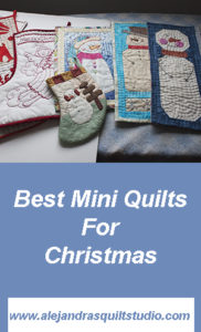 best mini quilts to make for Christmas