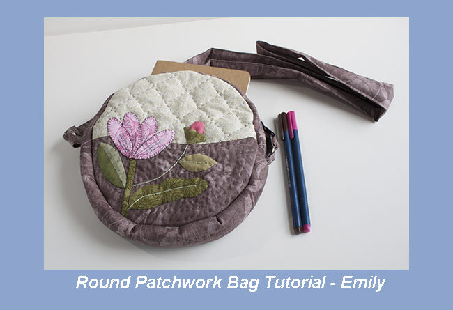 Round Patchwork Bag Tutorial - Emily