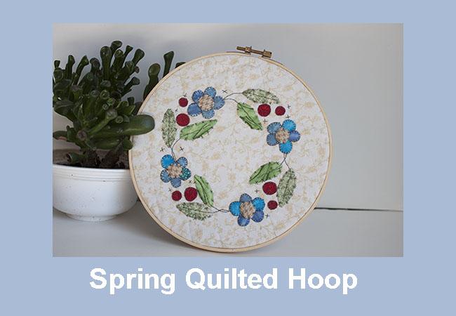 Spring quilted hoop