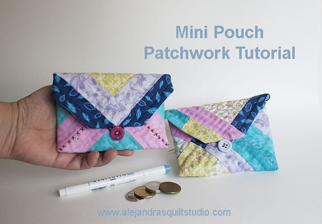 Mini Pouch Patchwork Tutorial