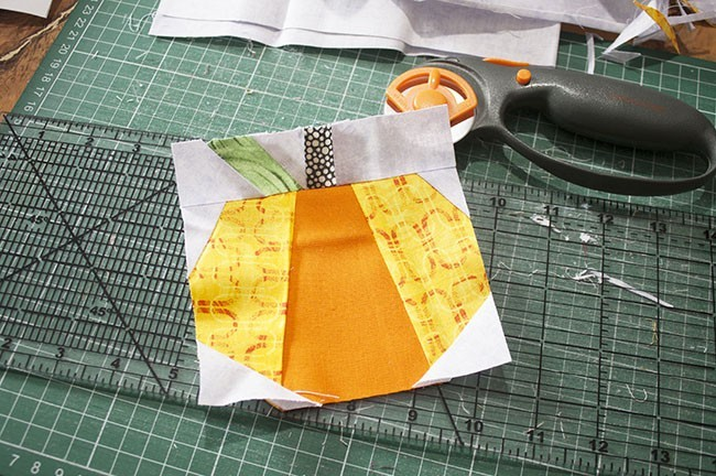Mini Quilt Tutorial - Pumpkin