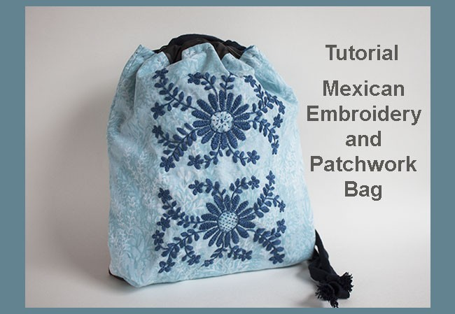 Mexican embroidery and patchwork bag