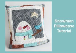 Snowman quilted pillowcase