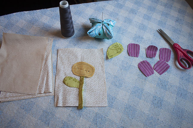 Flower Applique Small Quilt To Make