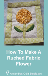 How To Make A Ruched Fabric Flower - Ruched Flower