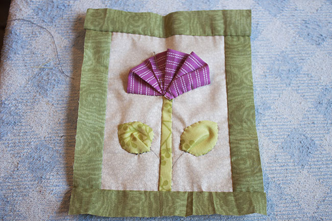 How To Make A Ruched Fabric Flower - Patchwork Flower