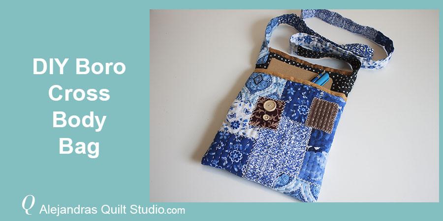 DIY Boro Cross Body Bag - Boro Cross Body Bag