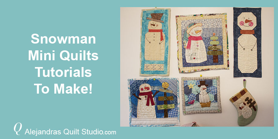 Snowman Mini Quilts Tutorials