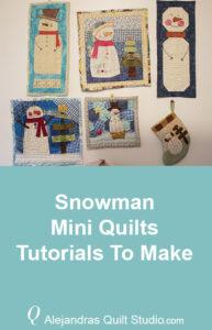 Snowman Mini Quilts Tutorials