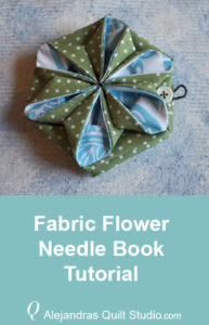 Fabric Flower Needle Book Tutorial - Needle Book