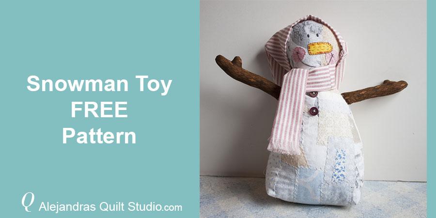 Snowman Toy Free Pattern - Snowman Toy