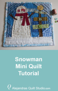 Snowman Mini Quilt Tutorial