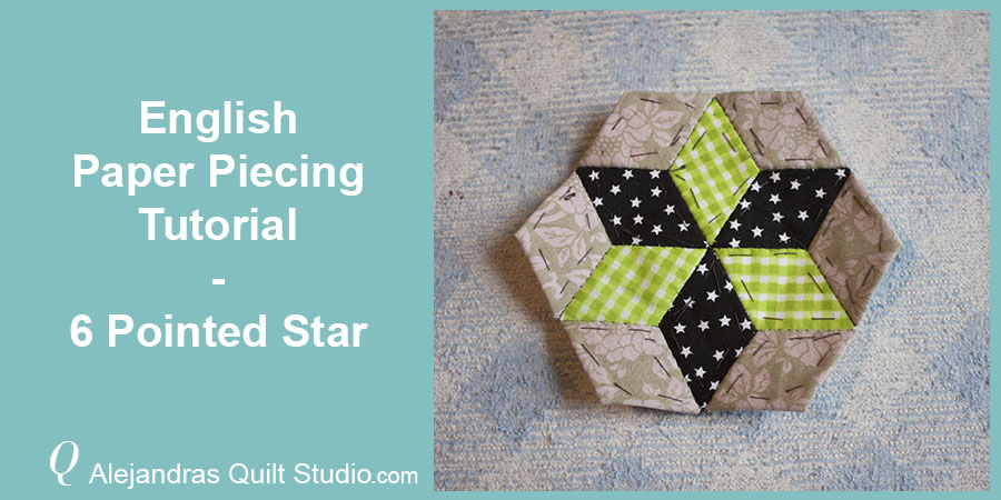 English Paper Piecing Tutorial - Six Pointed Star