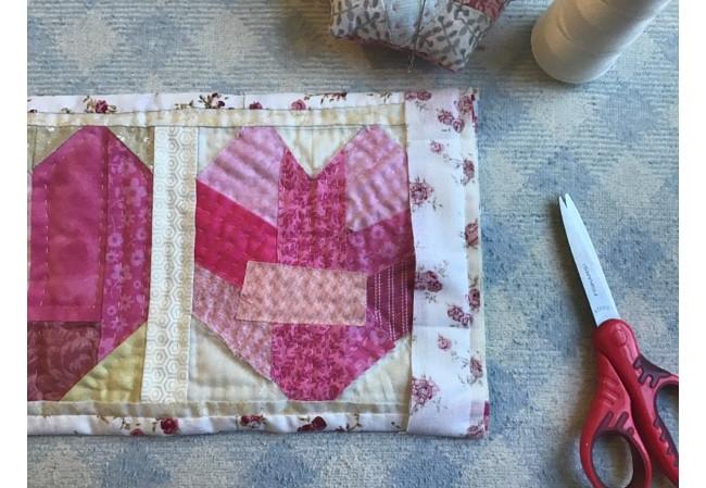3 Hearts Mini Quilt