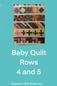 Baby Quilt Rows 4 And 5