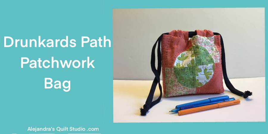 Drunkards Path Patchwork Bag